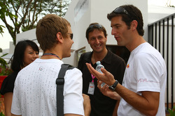 Sebastian Vettel, Scuderia Toro Rosso and Mark Webber, Red Bull Racing