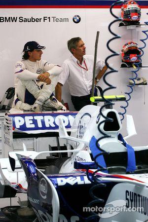 Robert Kubica, BMW Sauber F1 Team y su manager Daniele Morelli