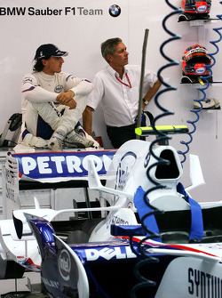 Robert Kubica, BMW Sauber F1 Team and his manager Daniele Morelli