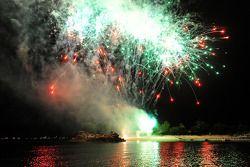 Red Bull Party à Sentosa Island: des feux d'artifice