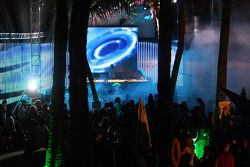 Red Bull Party at Sentosa Island: guests and the DJ