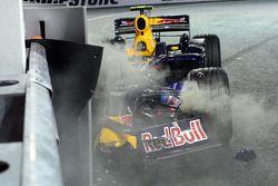 El arruinado RB4 de Mark Webber