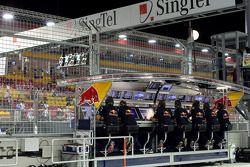 El Red Bull Racing pit perch
