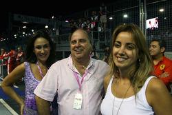 Rafaela Bassi, Girl Friend, Wife of Felipe Massa Luis Antonio Massa, Father of Felipe Massa, Scuderia Ferrari and Ana Helena, Mother of Felipe Massa, Scuderia Ferrari