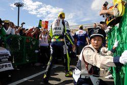 Valentino Rossi in parc fermé