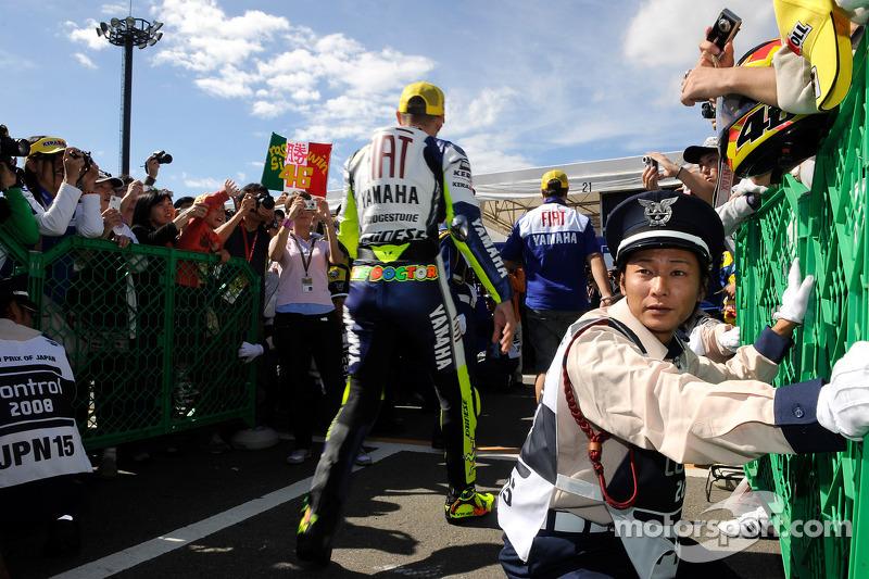 Valentino Rossi en parc fermé