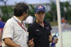 Pasquale Lattuneddu, FOM, Formula One Management and Sebastian Vettel, Scuderia Toro Rosso
