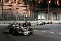 Jenson Button, Honda Racing F1 Team, RA108; David Coulthard, Red Bull Racing, RB4