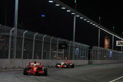 Felipe Massa, Scuderia Ferrari, F2008 and Lewis Hamilton, McLaren Mercedes, MP4-23
