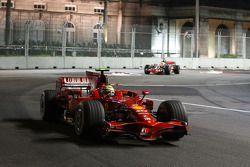 Felipe Massa, Scuderia Ferrari, F2008 leads Lewis Hamilton, McLaren Mercedes, MP4-23 at the start