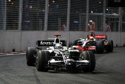 Nico Rosberg, WilliamsF1 Team, FW30 leads Lewis Hamilton, McLaren Mercedes, MP4-23