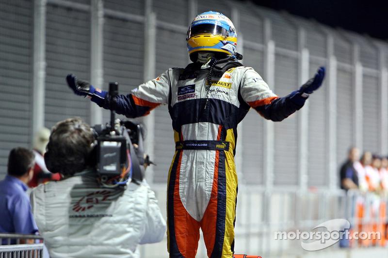 Fernando Alonso: venceu o GP de Cingapura de 2008 (de forma escandalosa) do 15º lugar no grid