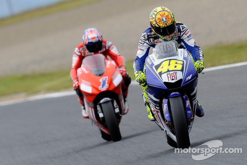 Valentino Rossi and Casey Stoner