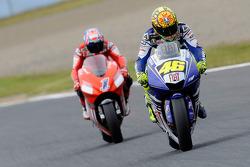 Valentino Rossi et Casey Stoner