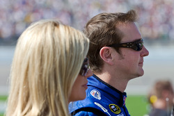 Kurt Busch, along with his wife, Eva