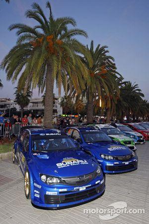 Subarus before ceremonial start