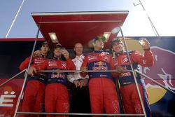 Winners Sébastien Loeb and Daniel Elena, second place Daniel Sordo and Marc Marti