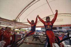 Winners Sébastien Loeb and Daniel Elena