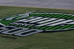 Amp Energy 500 signage on the trioval grass