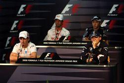 FIA conférence de presse: Timo Glock, Toyota F1 Team, Jenson Button, Honda Racing F1 Team, Kazuki Nakajima, Williams F1 Team, Robert Kubica, BMW Sauber F1 Team