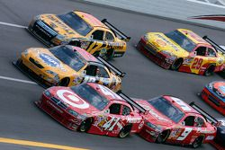 Reed Sorenson, Kyle Busch, Matt Kenseth and Kasey Kahne