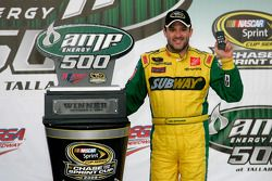 Victory lane: race winner Tony Stewart