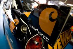 Matt Kenseth's Carhartt Ford sits in the garage
