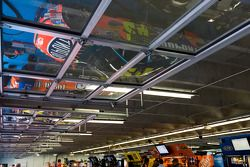 Cars are parked in the garage