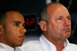 Льюис Хэмилтон, McLaren Mercedes и Рон Деннис, руководитель McLaren