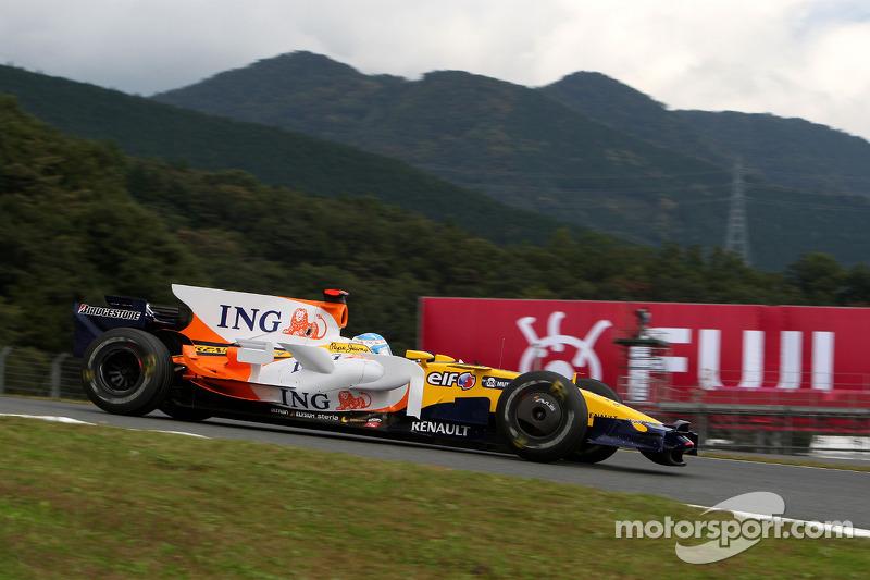 2008 - Fuji: Fernando Alonso, Renault R28