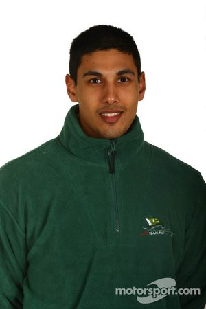 Adam Khan, driver of A1 Team Pakistan