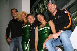 Jeroen Bleekemolen, driver of A1 Team Netherlands with Jan Lammers, Seat Holder A1 Team Netherlands and Robert Doornbos, driver of A1 Team Netherlands