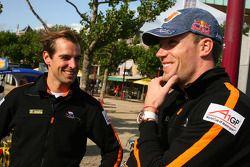 Jeroen Bleekemolen, driver of A1 Team Netherlands and Robert Doornbos, driver of A1 Team Netherlands