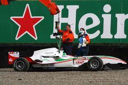 Fabio Onidi , pilote A1 Team Italy dans les graviers