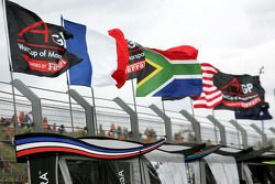 Flags on the pitwall