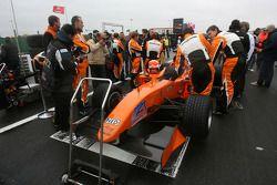 Car of Jeroen Bleekemolen, driver of A1 Team Netherlands on the grid