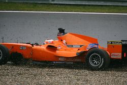 Jeroen Bleekemolen, driver of A1 Team Netherlands lost the lead of the race when he went through the