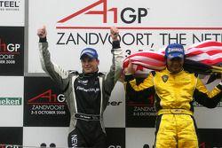 Podium, Earl Bamber, driver of A1 Team New Zealand, Fairuz Fauzy, driver of A1 Team Malaysia