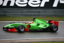 Side on Filipe Albuquerque, driver of A1 Team Portugal