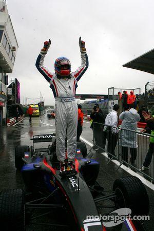 Race winner Loic Duval, driver of A1 Team France