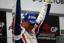 Podium, Loic Duval, driver of A1 Team France