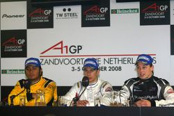 Post-race press conference with Loic Duval, driver of A1 Team France, Fairuz Fauzy, driver of A1 Tea
