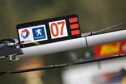 Peugeot Sport Total pit sign