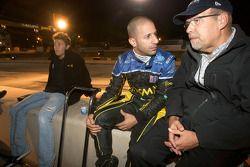 Marco Andretti, Tony Kanaan et Kim Green