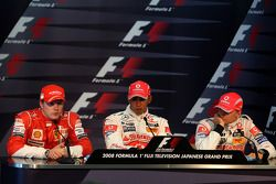 Conferencia de prensa de la FIA: Ganador de la pole Lewis Hamilton, segundo puesto Kimi Raikkonen y