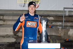 Victorye lane: race winner Kyle Busch