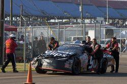 La voiture de Gabi DiCarlo après l'accident du tour 11