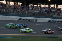 Joey Logano leads Justin Allgaier, Patrick Sheltra and Jeremy Clements