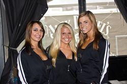 The Jack Daniels girls strike a pose at the Jack Daniels tent