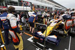 The car of Fernando Alonso, Renault F1 Team